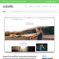 28 Best Free Bootstrap WordPress Themes 2020