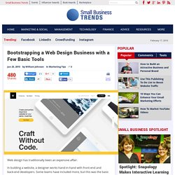 Bootstrapping a Web Design Business with a Few Basic Tools