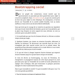 Bootstrapping social
