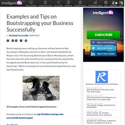 Examples and Tips on Bootstrapping your Business Successfully
