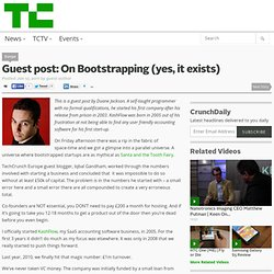 Guest post: On Bootstrapping (yes, it exists)