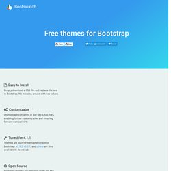 Bootswatch: Free themes for Twitter Bootstrap