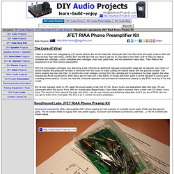 Boozhound Laboratories JFET Phono Preamp Kit