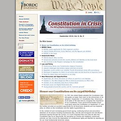 Newsletter: September 2010