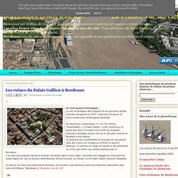 La France vue du ciel: Les ruines du Palais Gallien à Bordeaux