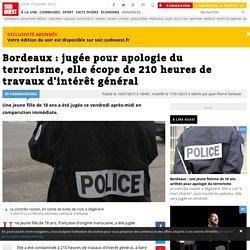 Bordeaux : jugée pour apologie du terrorisme, elle écope de 210 heures de travaux d'intérêt général