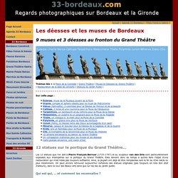 Bordeaux 3 déesses et 9 muses sur le portique du Grand Théâtre