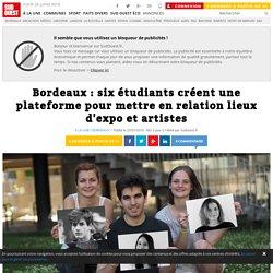 Bordeaux : six étudiants créent une plateforme pour mettre en relation lieux d'expo et artistes