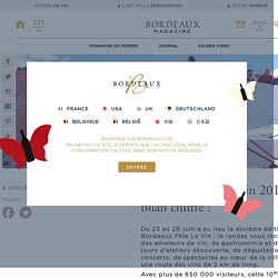 Bordeaux Fête Le Vin 2016 : le bilan chiffré !