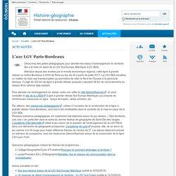 L'axe LGV Paris-Bordeaux-Histoire-géographie-Éduscol