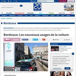 Bordeaux: Les nouveaux usages de la voiture