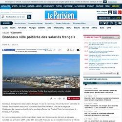 Bordeaux ville préférée des salariés français
