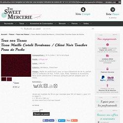 Tissu Maille Cotelé Bordeaux / Chiné Noir Toucher Peau de Peche pas cher sur thesweetmercerie.com