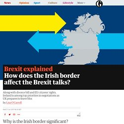 How does the Irish border affect the Brexit talks?