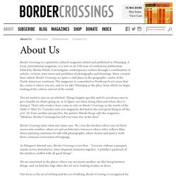 About Us – Border Crossings Magazine