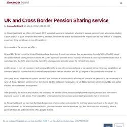 Cross Border US UK - Cross Border Pension Sharing Service