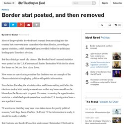 Border stat posted, and then removed