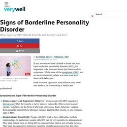 Signs of Borderline Personality Disorder (BPD)