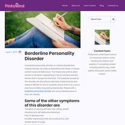 Borderline Personality Disorder - Pinkymind