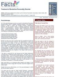 Treatment of Borderline Personality Disorder - Robert O. Friedel MD, Steven Gans MD, John M. Grohol Psy.D.