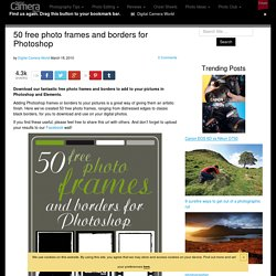 50 free photo frames and borders for Photoshop | Techniques | PhotoRadar