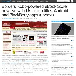 Borders' Kobo-powered eBook Store now live with 1.5 million titl