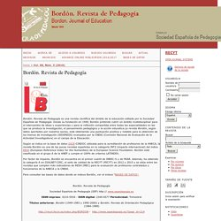 Bordón. Revista de Pedagogía (SCOPUS, ESCI)