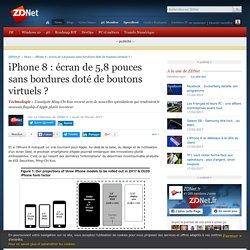 iPhone 8 : écran de 5,8 pouces sans bordures doté de boutons virtuels ? - ZDNet