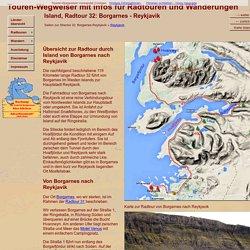 Radtour Island: Von Borgarnes über Havalfjördur nach Reykjavik