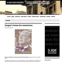 Borges's funes the memorious