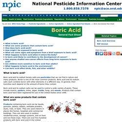 Boric Acid General Fact Sheet