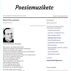 Boris Vian, poèmes