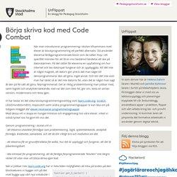 Börja skriva kod med Code Combat