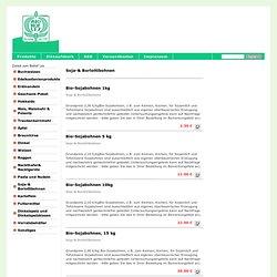 Soja-& Borlottibohnen - Online Hofladen Biohof Lex Braunhirse, Dinke, Buchweizen, Mais, glutenfreiesl und meh