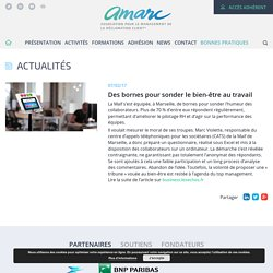 Des bornes pour sonder le bien-être au travail - AMARC