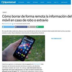 Cómo borrar de forma remota la información del móvil