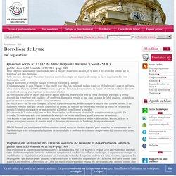 JO SENAT 06/11/14 Réponse à question N°13332 Borréliose de Lyme - 14e législature