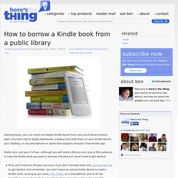 How to borrow a Kindle book from a public library