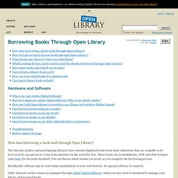 Borrowing Books Through Open Library