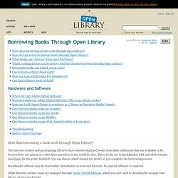 Borrowing Books Through Open Library