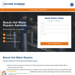 Bosch Hot Water Repairs Adelaide