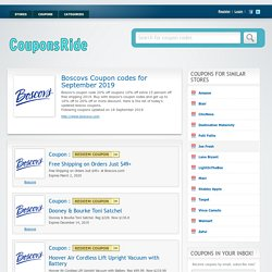 Boscov's 20% Off Coupon Code