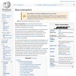 Bose (entreprise)