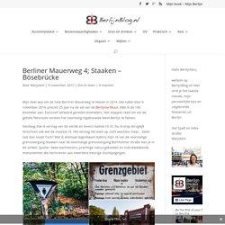BERLIJNBLOG.nl: Berliner Mauerweg 4; Staaken - Bösebrücke