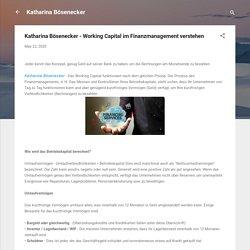 Katharina Bösenecker - Working Capital im Finanzmanagement verstehen