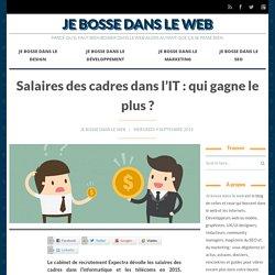 Salaires des cadres dans l'IT : qui gagne le plus