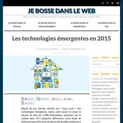 Les technologies émergentes en 2015
