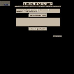 bossraids script - jsFiddle demo by moritana