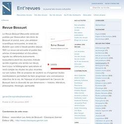 Revue Bossuet - Ent'revues, le site des revues culturelles