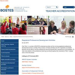 BOSTES Teacher Accreditation - News